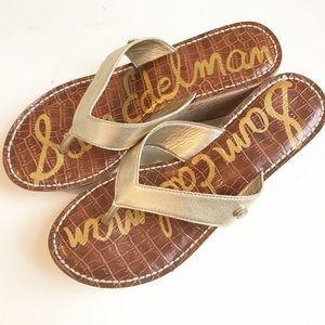 Sam Edelman Cork Wedge Sandals Flip Flops - Size 8